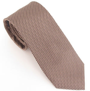 Van Buck London Plain Beige Silk Tie