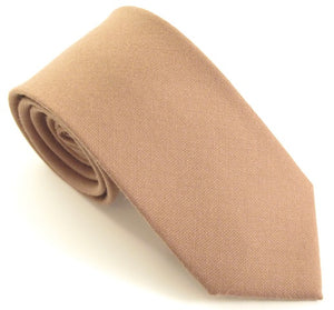 Beige Plain Wool Tie by Van Buck
