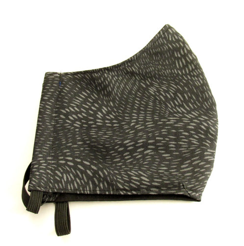 Black & Grey Fleck Pattern Face Covering / Mask