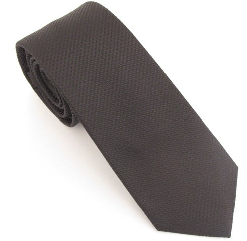 Van Buck London Plain Black Silk Tie