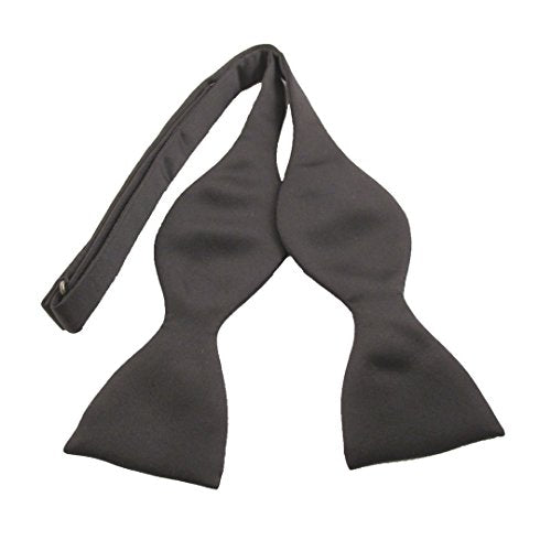 Black Satin Self-Tied Bow by Van Buck