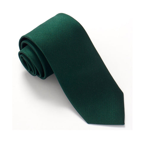Van Buck RL Plain Bottle Green Silk Tie