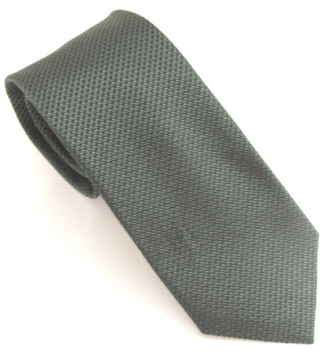Van Buck London Plain Bottle Green Silk Tie