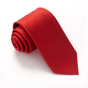 Bright Red Plain Red Label Silk Tie by Van Buck