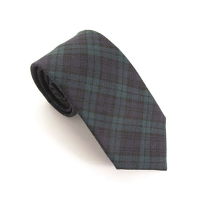 Black Watch Tartan Wool Tie by Van Buck