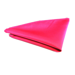 Cerise Satin Pocket Square by Van Buck