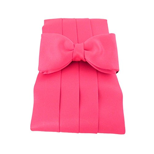Cerise Satin Cummerbund & Pre-Tied Bow Set