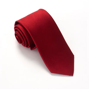 Cherry Red Silk Tie by Van Buck