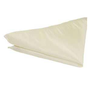 Cream Satin Wedding Pocket Square by Van Buck