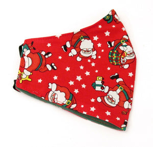 Red Dancing Father Christmas Cotton Face Covering / mask
