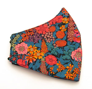 Ciara Orange Face Covering / Mask Made with Liberty Fabric