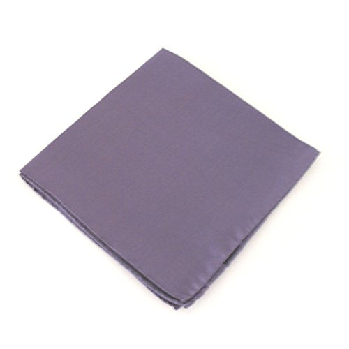 Damzen Purple Plain Silk Pocket Square by Van Buck