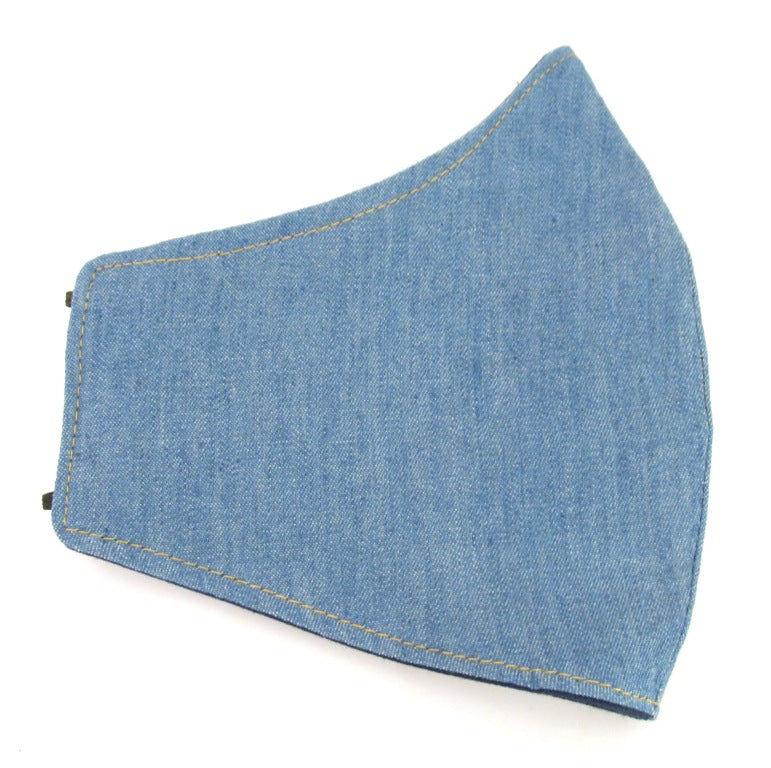 Denim Cotton Face Covering / Mask