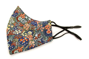 Elderberry Cotton Face Covering / Mask Made with Liberty Fabric
