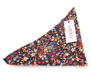 Floral Affair Cotton Pocket Square Made with Liberty Fabric
