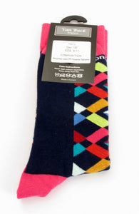 Van Buck Limited Edition Multi-Coloured Geometric Socks