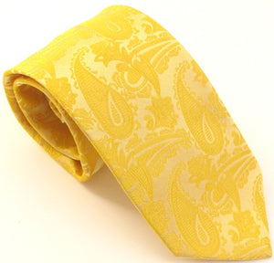 Gold Paisley Wedding Tie By Van Buck