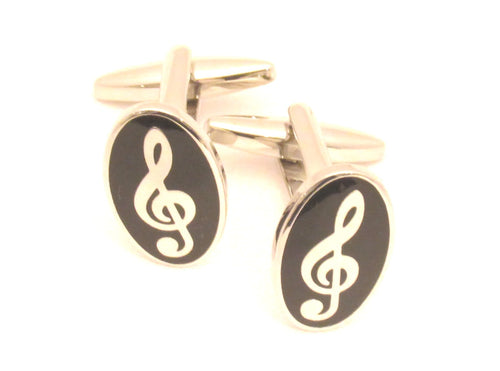Music Note Novelty Cufflinks by Van Buck