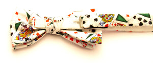 Playing Cards Pre-Tied Bow by Van Buck