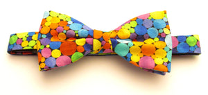 Multicoloured Bubbles Pre-Tied Bow by Van Buck