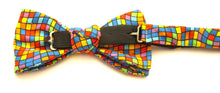 Square Mosaic Multi-coloured Bow Tie by Van Buck