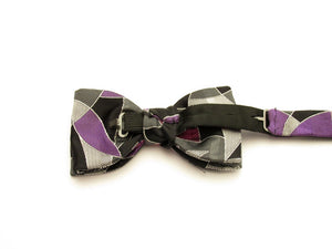Purple Shell Pre-Tied Fancy Silk Bow by Van Buck