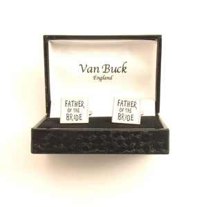 Father of the Bride Square Wedding Cufflinks by Van Buck