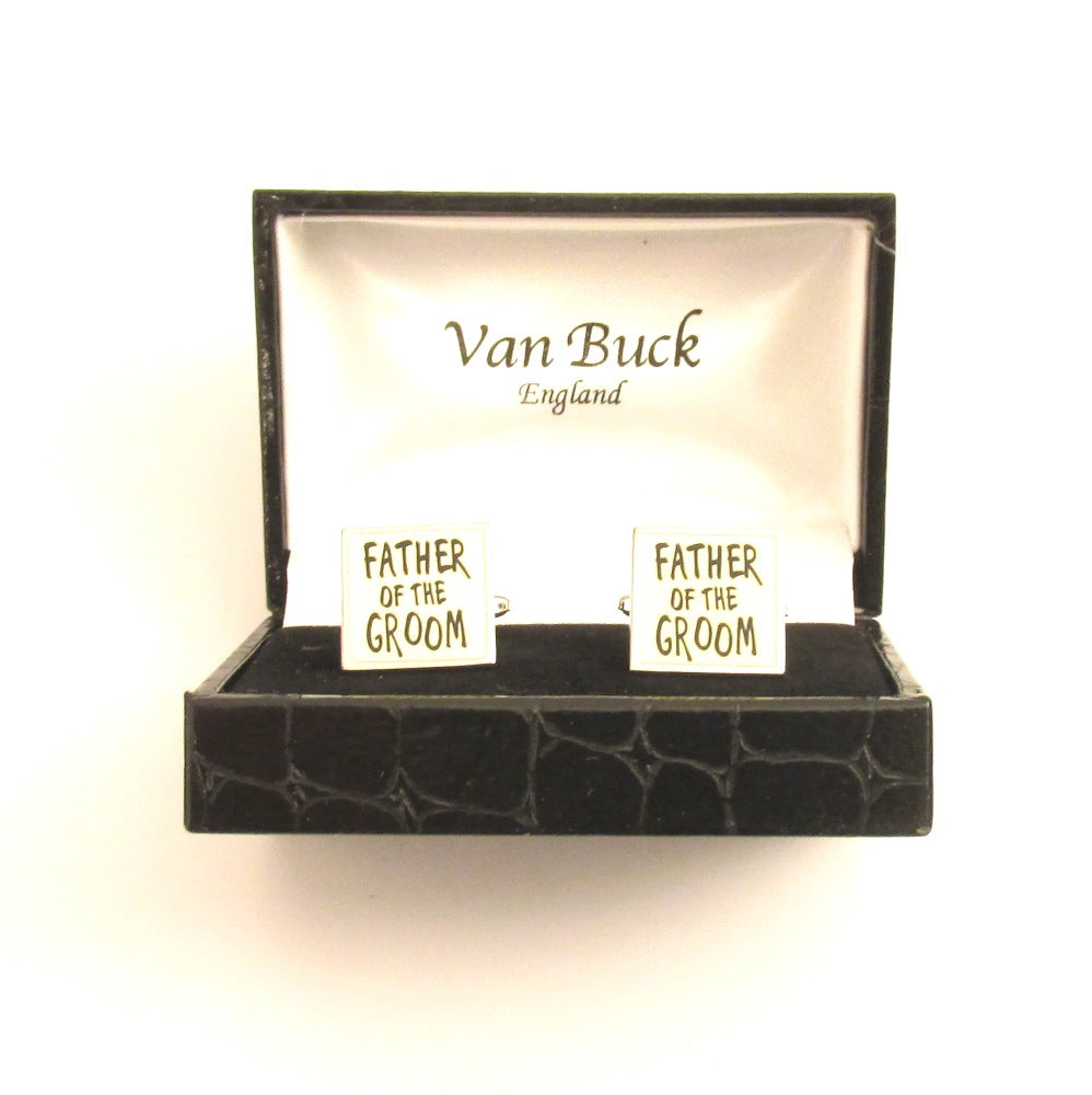 Father of the Groom Square Wedding Cufflinks by Van Buck