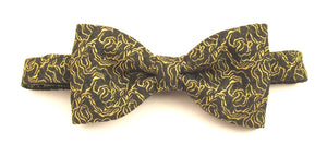 Gold Sparkly Rose Pre-Tied Lurex Bow by Van Buck