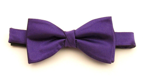 Purple Silk Bow Tie by Van Buck