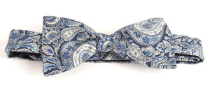 Lee Manor Blue Bow Tie Made with Liberty Fabric