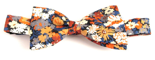 Thorpe Orange Bow Tie Made with Liberty Fabric