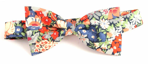 Thorpe Green Liberty Print Cotton Pre-Tied Bow by Van Buck