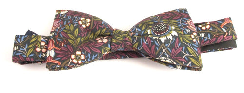 Peach Pincher Bow Tie Made with Liberty Fabric