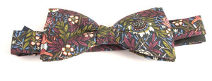 Peach Pincher Liberty Print Cotton Pre-Tied Bow by Van Buck
