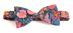 Ciara Dark Bow Tie Made with Liberty Fabric