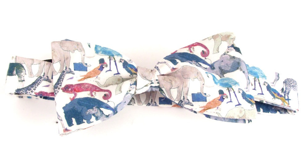 Queue for the Zoo Bow Tie Made with Liberty Fabric