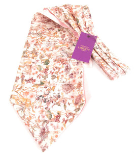 Wild Flowers Pink Cotton Cravat Made with Liberty Fabric