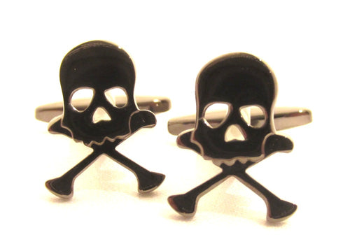 Skull & Crossbone Novelty Cufflinks by Van Buck