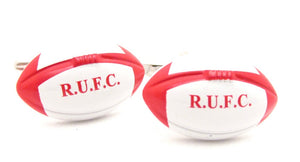 R.U.F.C Rugby Ball Novelty Cufflinks by Van Buck