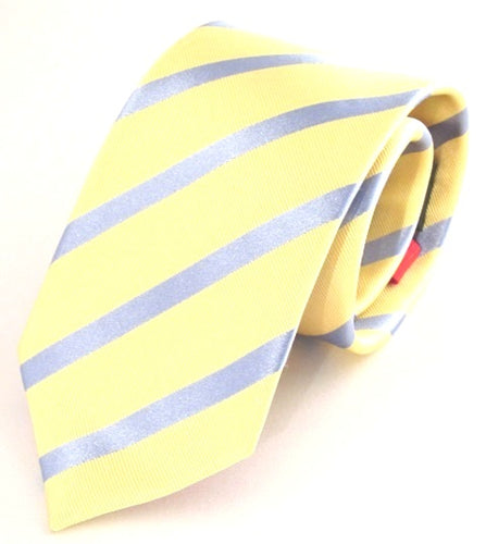 Striped Lemon with Sky Silk Tie