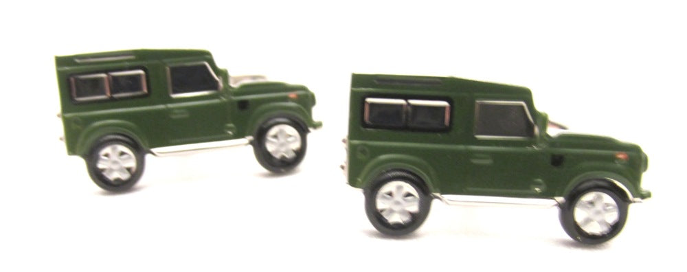 Green Car Novelty Cufflinks by Van Buck
