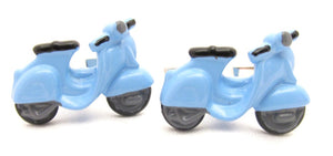 Blue Scooter Novelty Cufflinks by Van Buck