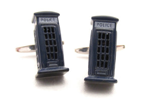 Police Box Novelty Cufflinks by Van Buck