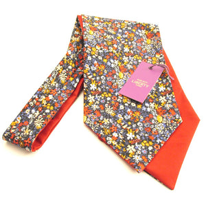 Floral Affair Liberty Print Cotton Cravat by Van Buck