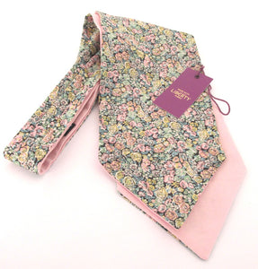Green Chive Liberty Print Cotton Cravat by Van Buck