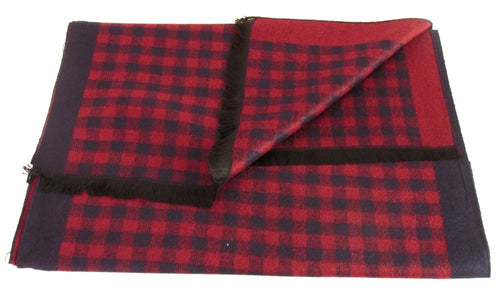 Red Chequered Reversible Scarf by Van Buck