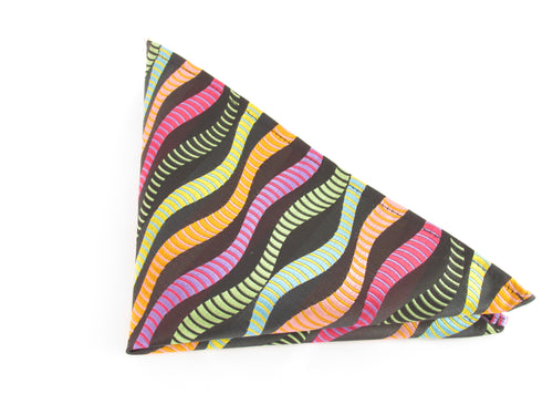 Limited Edition Orange Wave Silk Pocket Square by Van Buck