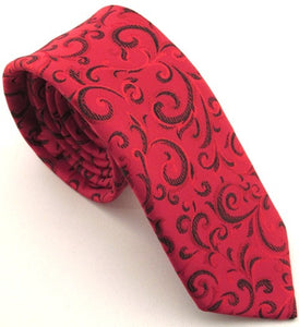 Sparkly Black Swirl Tie by Van Buck