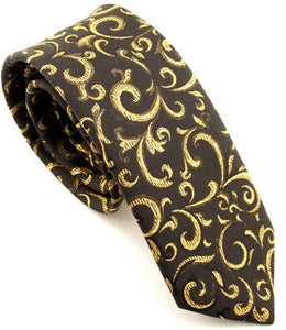 Sparkly Gold Swirl Tie by Van Buck